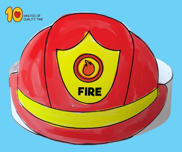 Fireman Hat Template Fireman hat, Hat template, Hat crafts