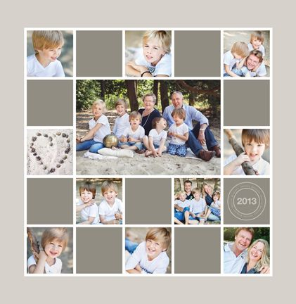 Two tones of colour blocks work well with the dominant colour palette in this series of family portraits.