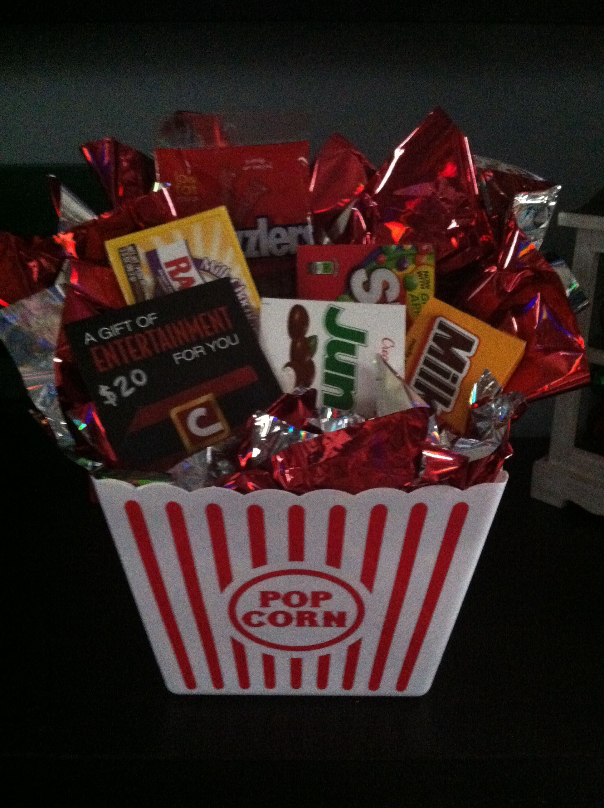 Movie grab bag gift. Cute work give away idea. | Birthdays ...