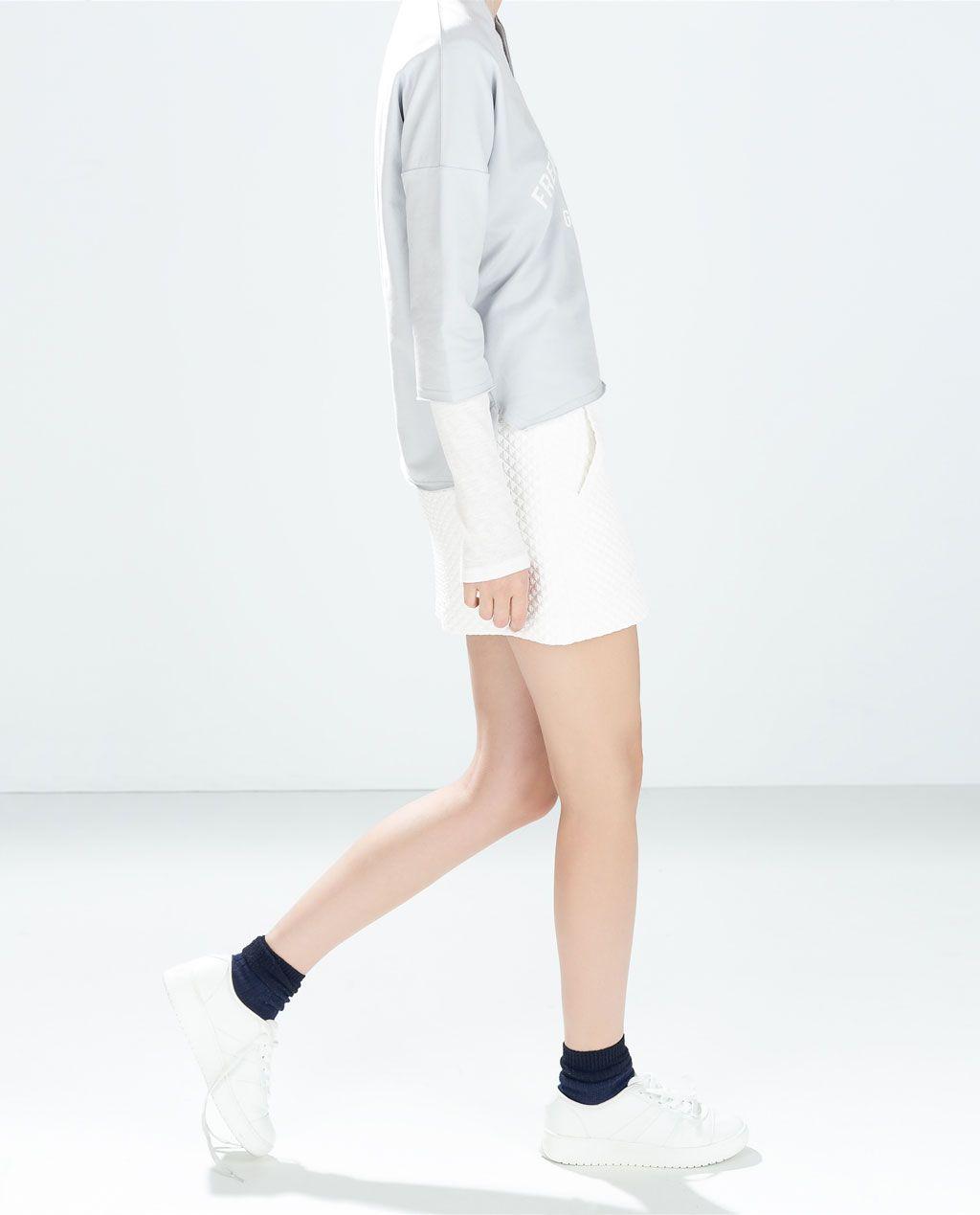 Image 2 of MINI SKIRT WITH ZIP from Zara
