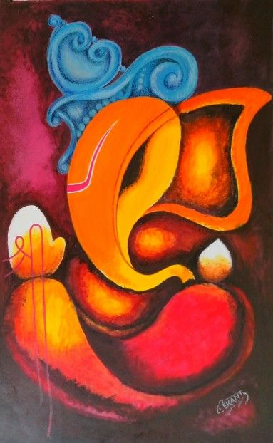 Abstract Ganesha | Art | Pinterest | Ganesha Ganesh And Paintings