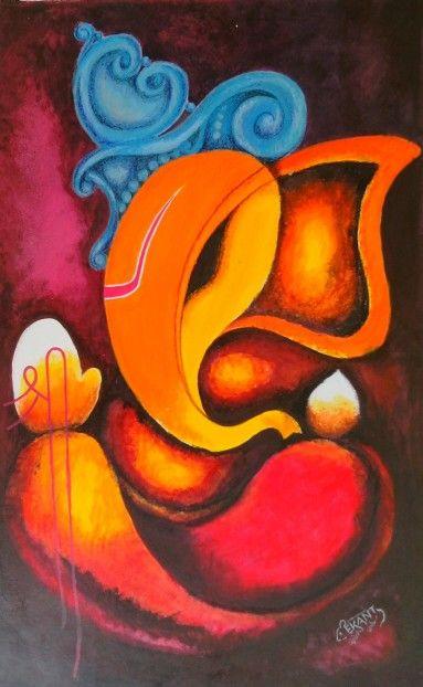 Abstract Ganesha | Lord ganesha paintings, Ganesha painting
