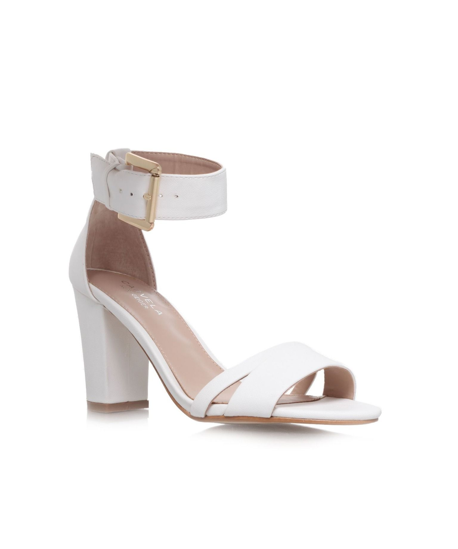 9c32800b53 Carvela Carly high heel sandals, White | STYLE: Women | Carvela kurt ...