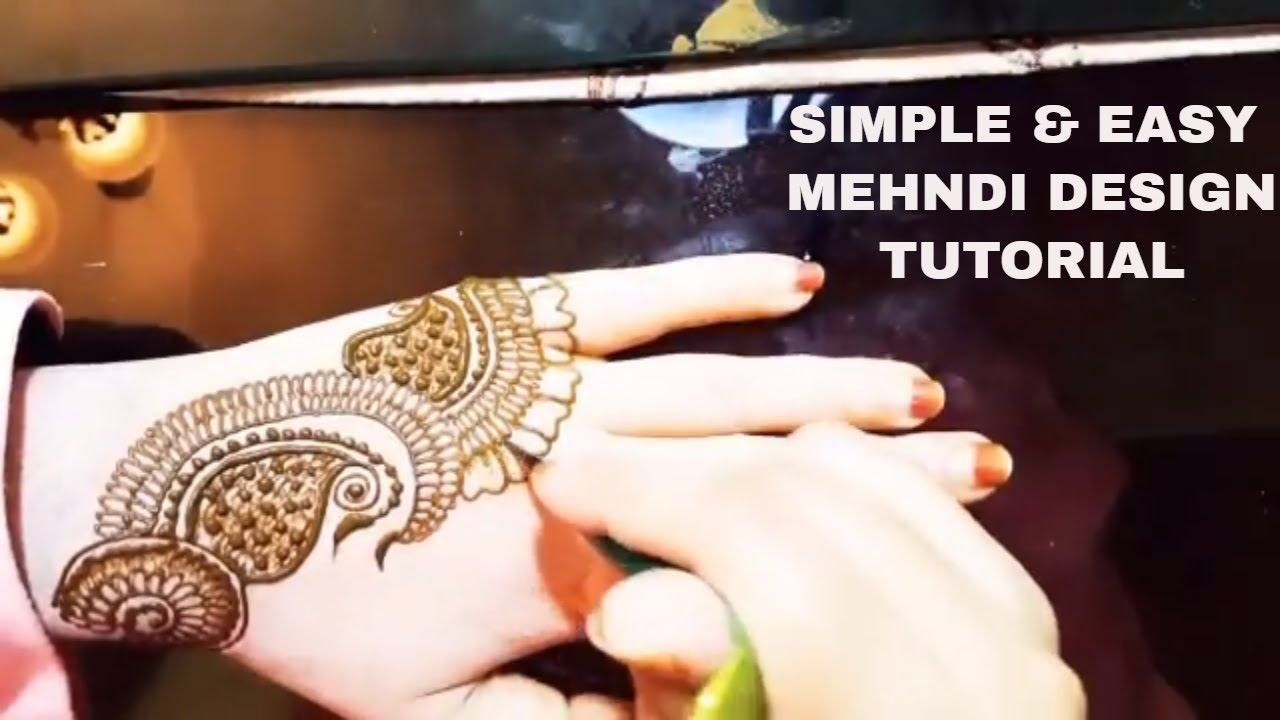 Easy Mehndi Tutorial : Simple mehndi design tutorial quick and cute