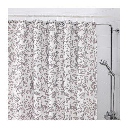 BLEKVIVA Shower curtain, white, gray | Shower pan, Bath decor and ...