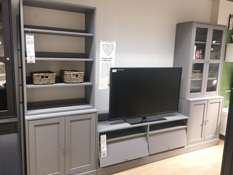 White Havsta Ikea Living Room