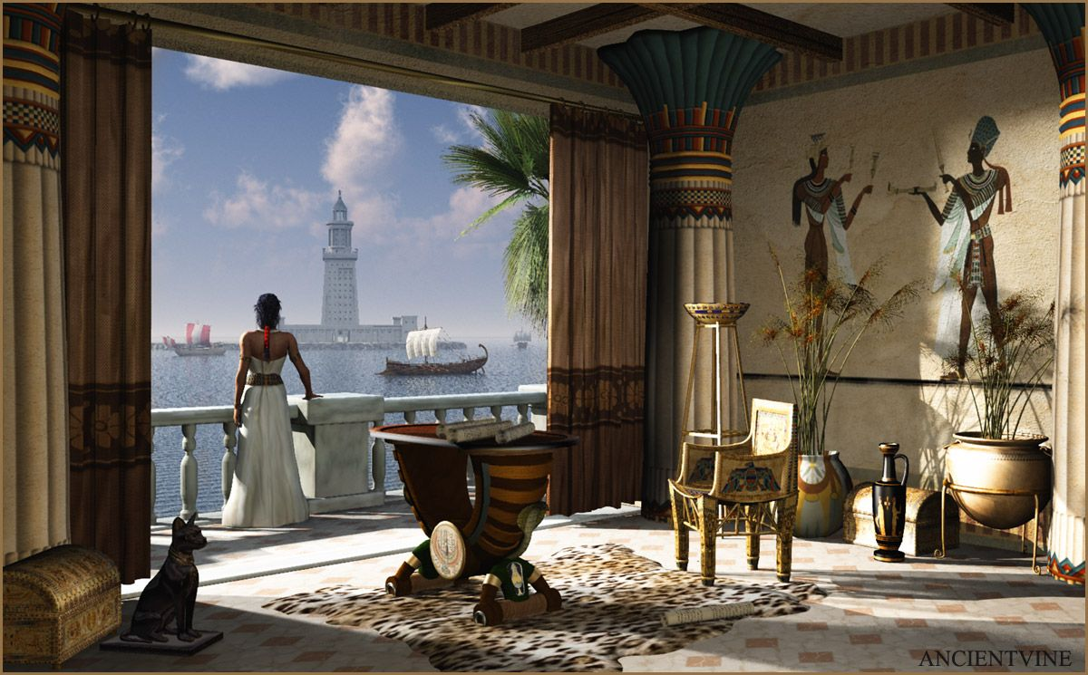 The view from cleopatra 39 s private residence and palace on the island of antirrhodes in the port Kitchen design in alexandria egypt