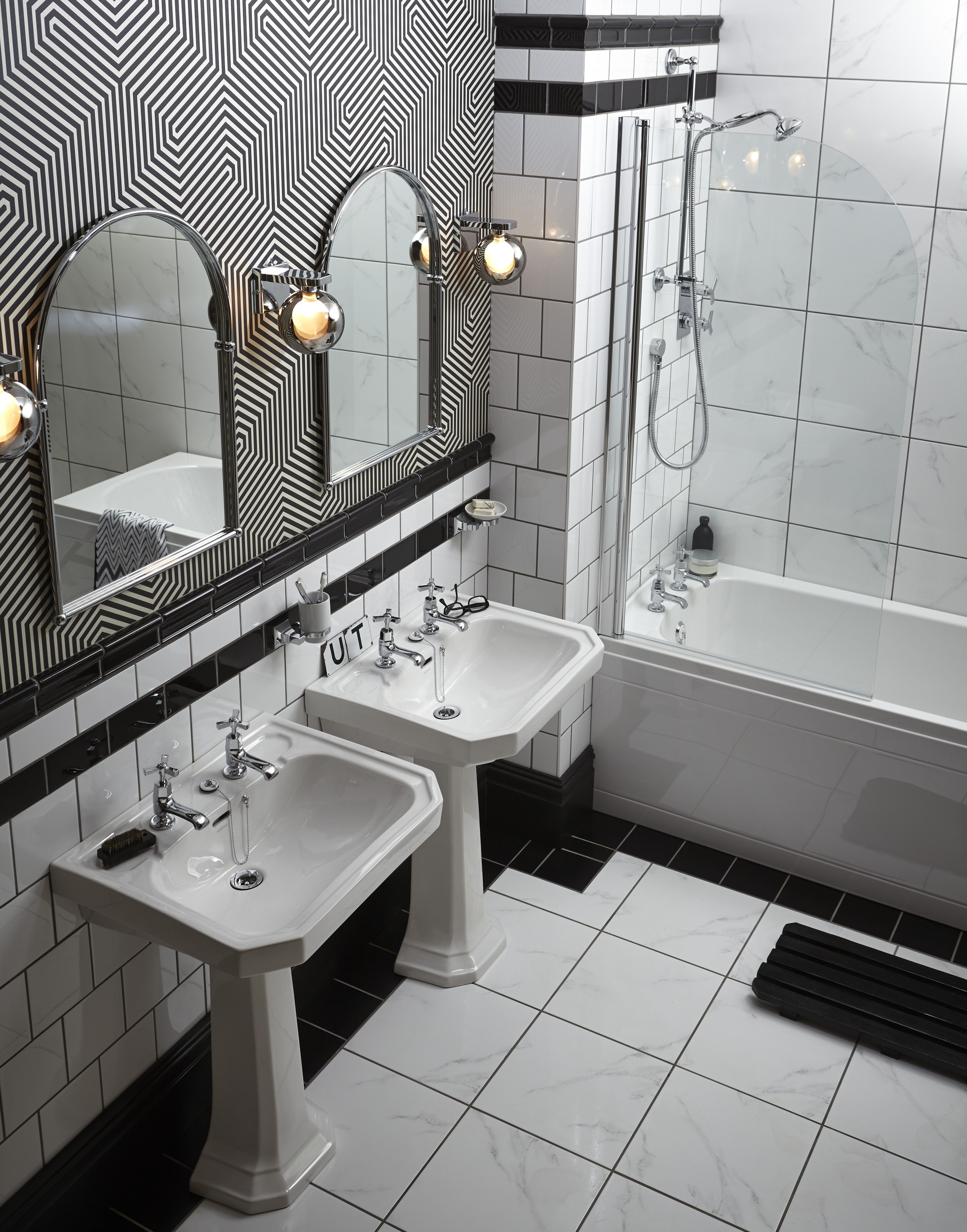 Nostalgie Keramik Waschtisch Granley Mit Standsaule Waschtisch Badezimmer Innenausstattung Bad Styling