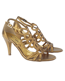 alexa filigree sandals by phase eight. gold sandals. gold shoes.