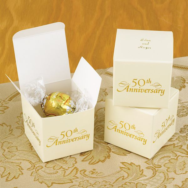 Personalized 50th Anniversary Favor Boxes Set Of 25 50th Anniversary Favors 50th Wedding Anniversary Favors Wedding Anniversary Favors