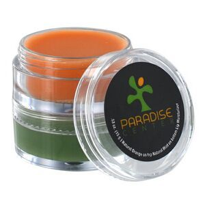 Natural Lip Balm with Tinted Flavor in a Clear Double Stack Jar