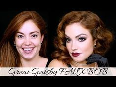 Great Gatsby FAUX BOB || 1920's Inspired Hair!