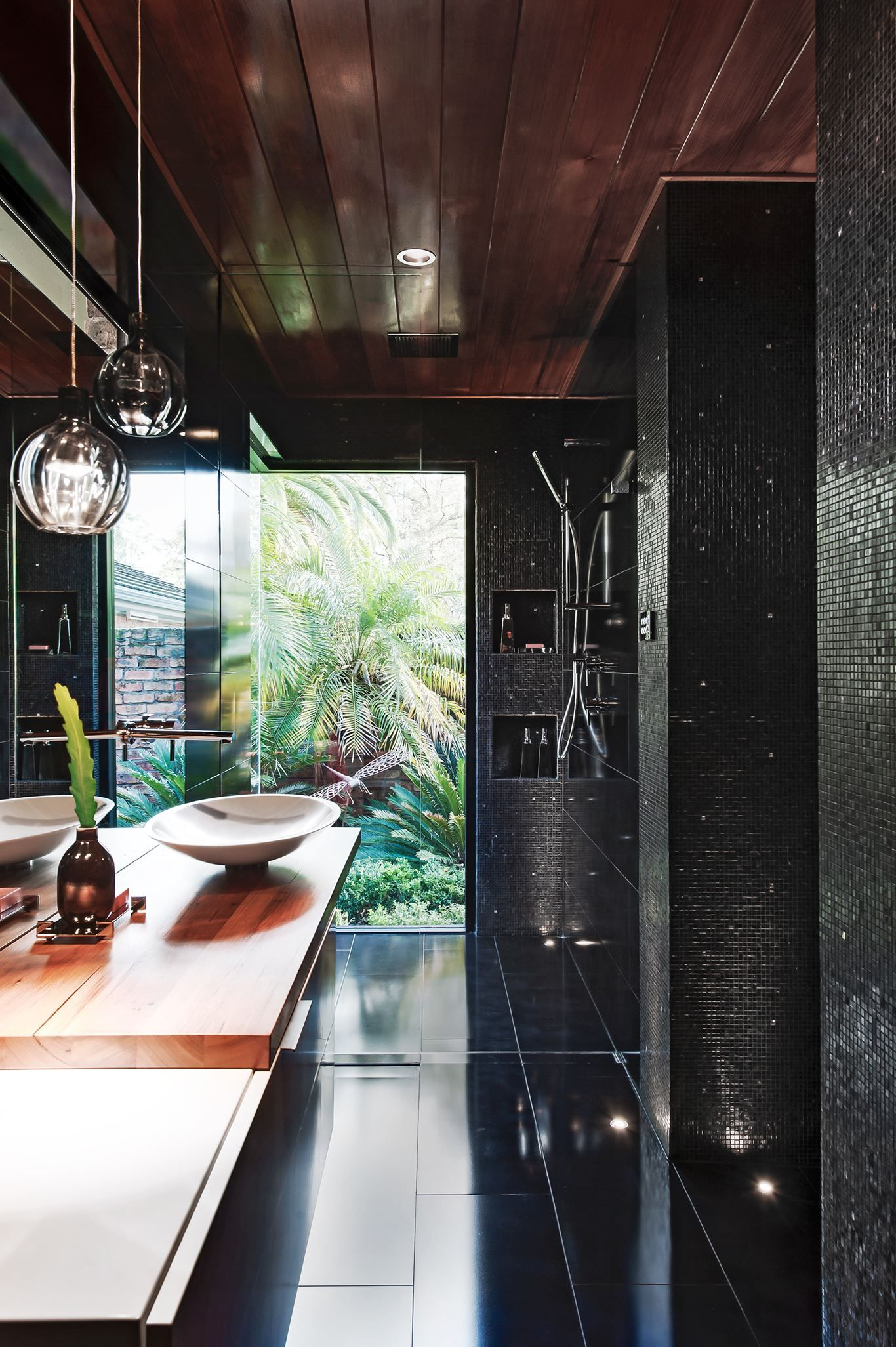 Shower with window ideas  take it outside create the sensation of showering outdoors with a