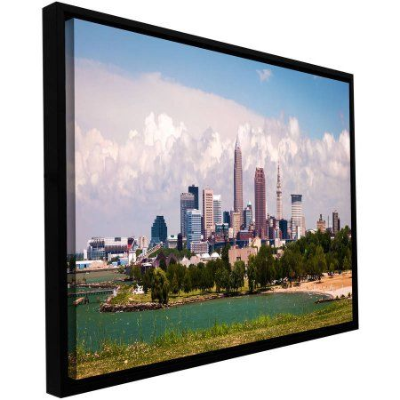 ArtWall Cody York Cleveland Pano 2 inch Floater Framed Gallery ...