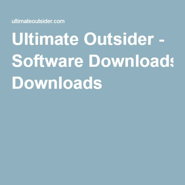 Ultimate Outsider - Software Downloads Other Pinterest Software - spreadsheet download free windows 7