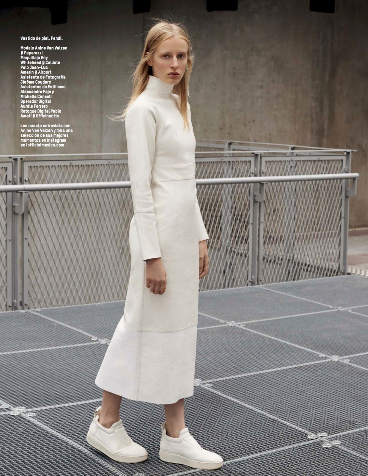 clean slate: anine van velzen by ilaria orsini for l'officiel mexico october 2015 |