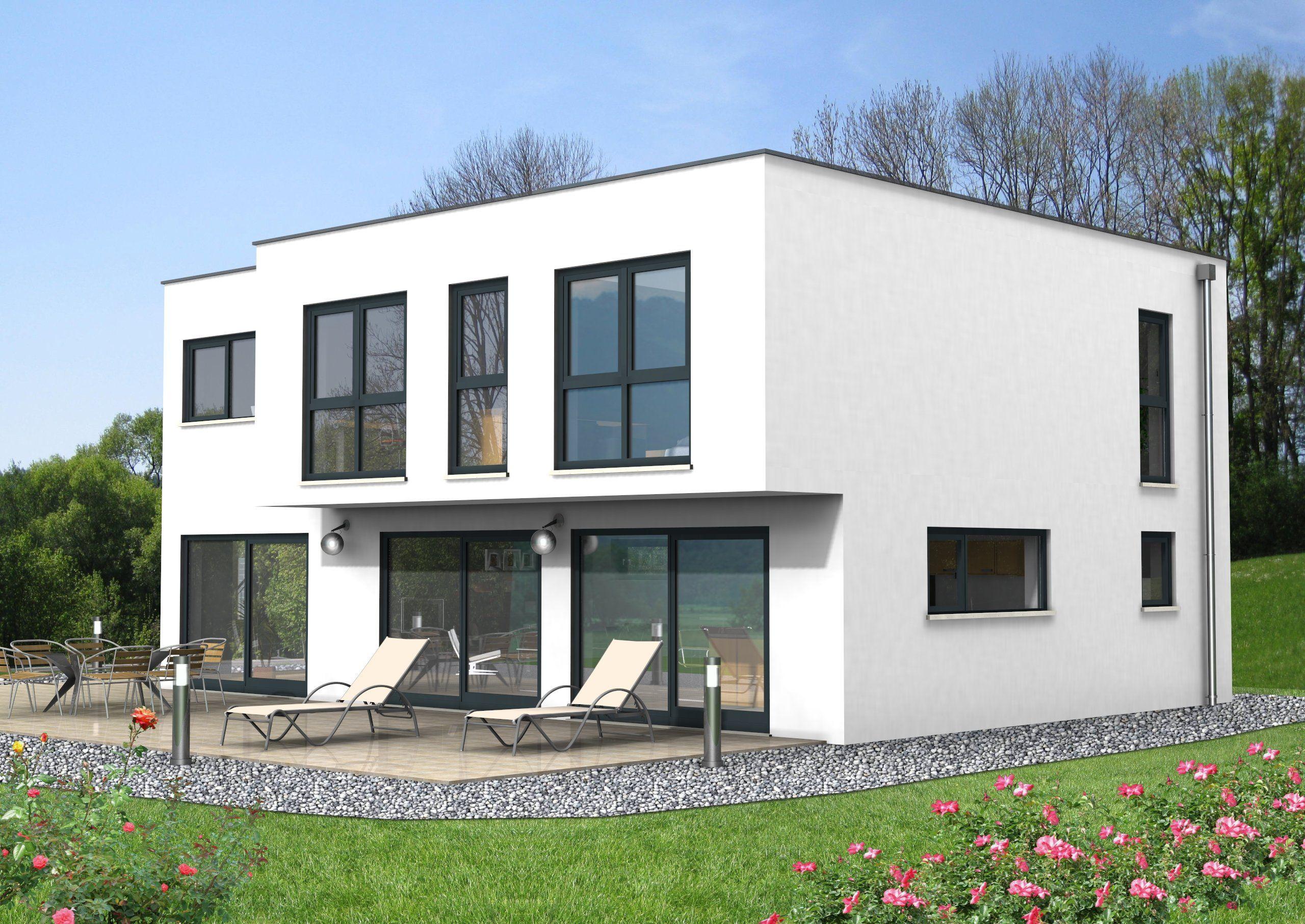 Haus Idee Flachdachhaus mit einer Wohnfläche von ca. 180 m²