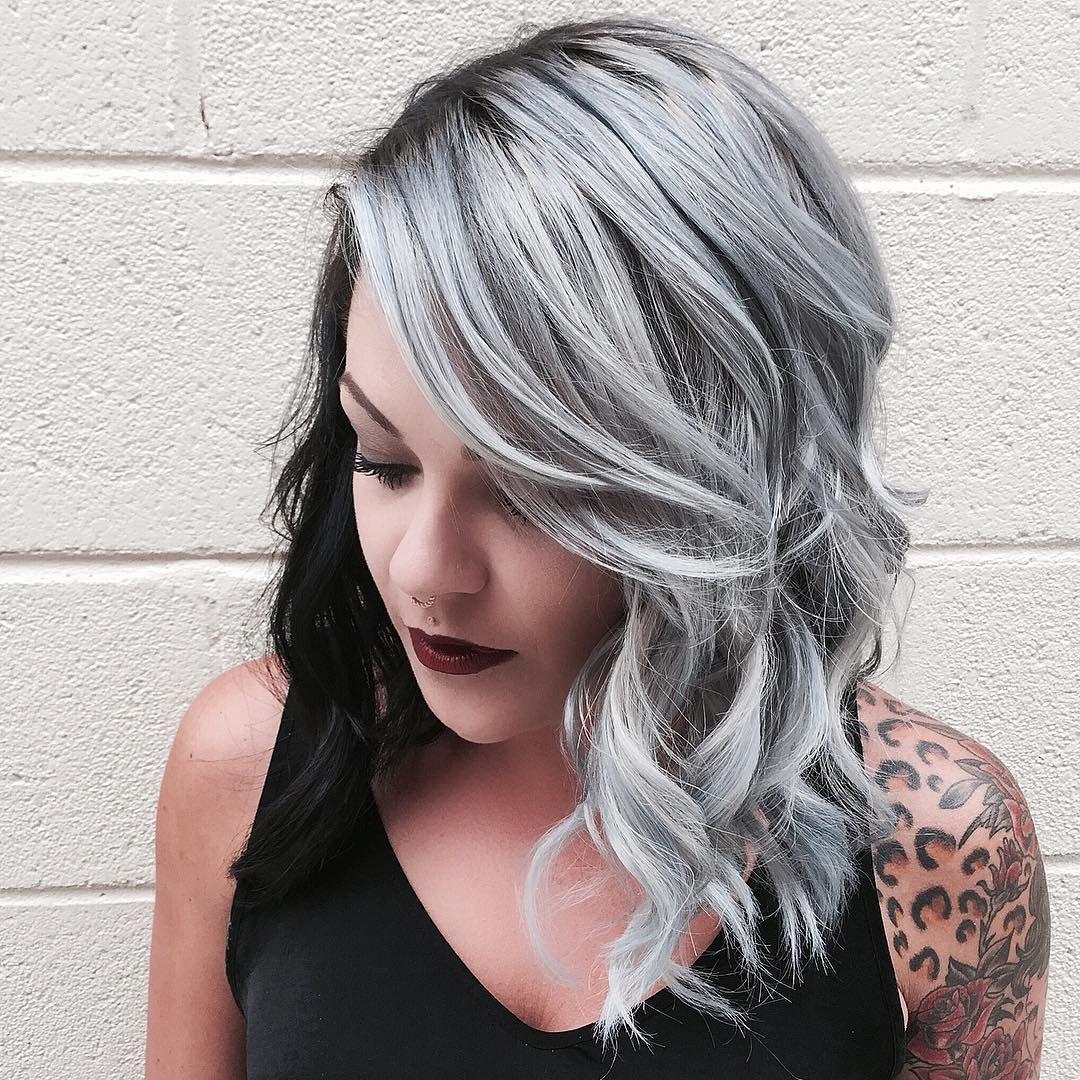 dual toned silver hair cruella de vil hair hair pinterest