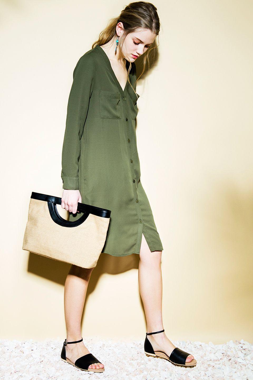 184ed8f6f24bc8 ノーカラーシフォンシャツ│ EGOIST(エゴイスト)ファッション公式通販サイト|エゴイスト ストア
