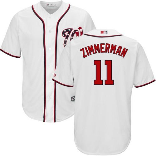 e3483257adf Nationals  11 Ryan Zimmerman White New Cool Base Stitched MLB Jersey ...