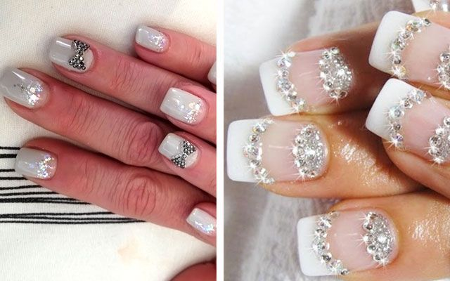 Дизайн ногтей со стразами: фото роскошного маникюра + видео ...