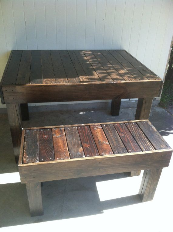 Reclaimed Wood Pallet Occasional Dining Bench Louisiana Etsy In 2020 Pallet Dining Table Wood Pallet Furniture Pallet Furniture
