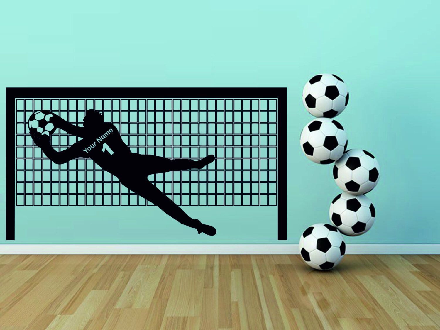 Wall Decal Soccer Goal Wall Decal Football Goal Decals Stickers - Sporting wall decals