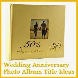 wedding albums titles