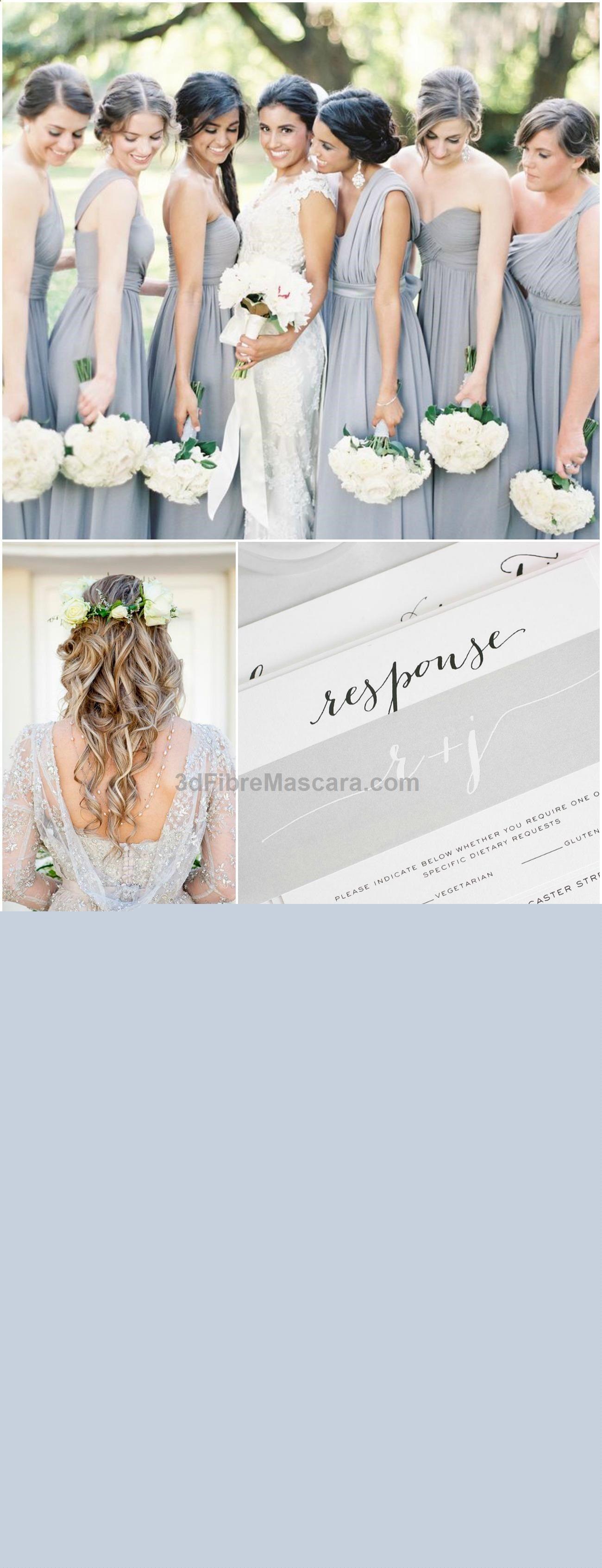 Blue grey wedding dress  Silver Wedding Inspiration from Shine Wedding Invitations  Love