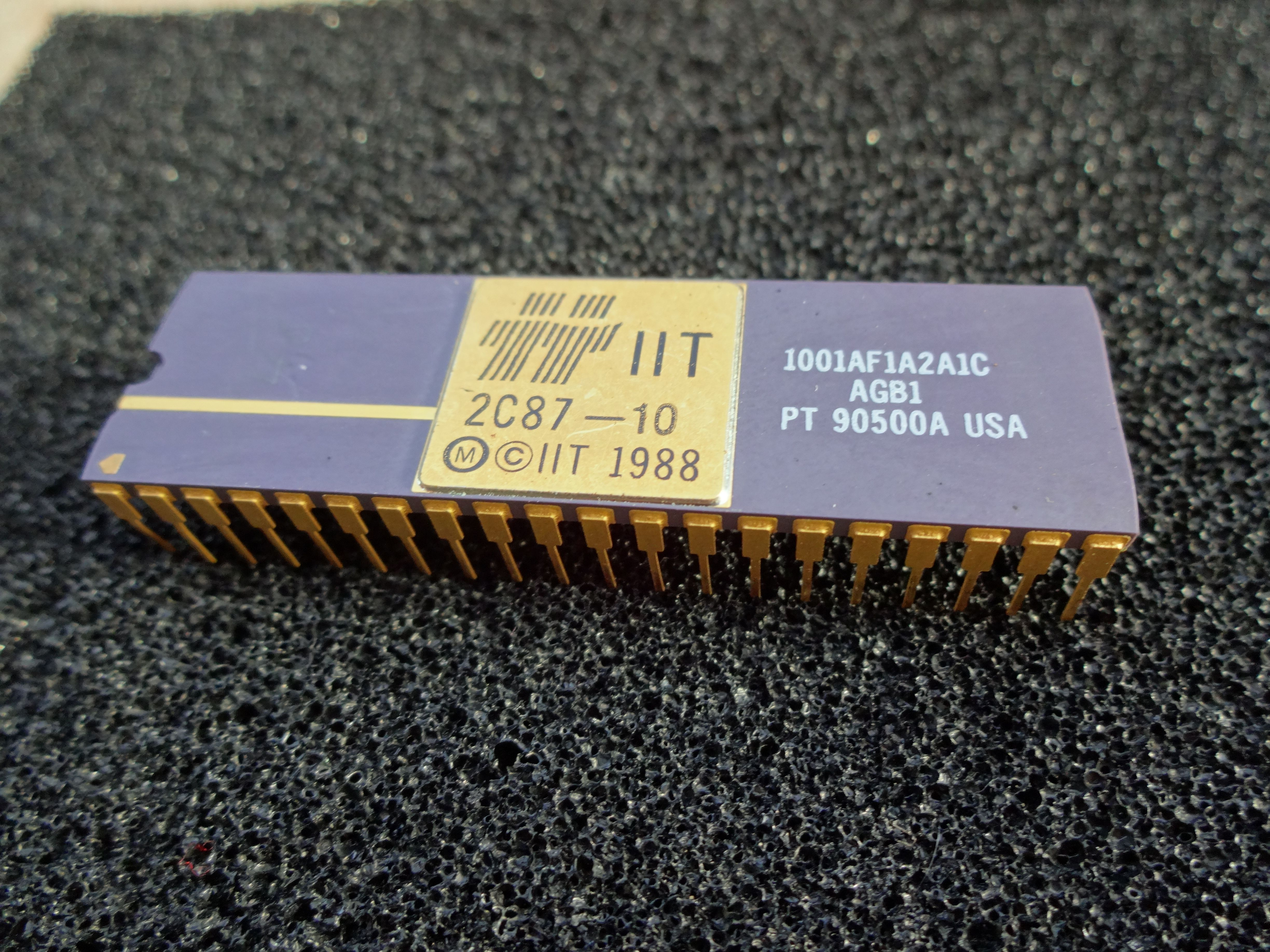 IIT 287, a Maths Co-Processor for Intel 286 CPUs (16 bit