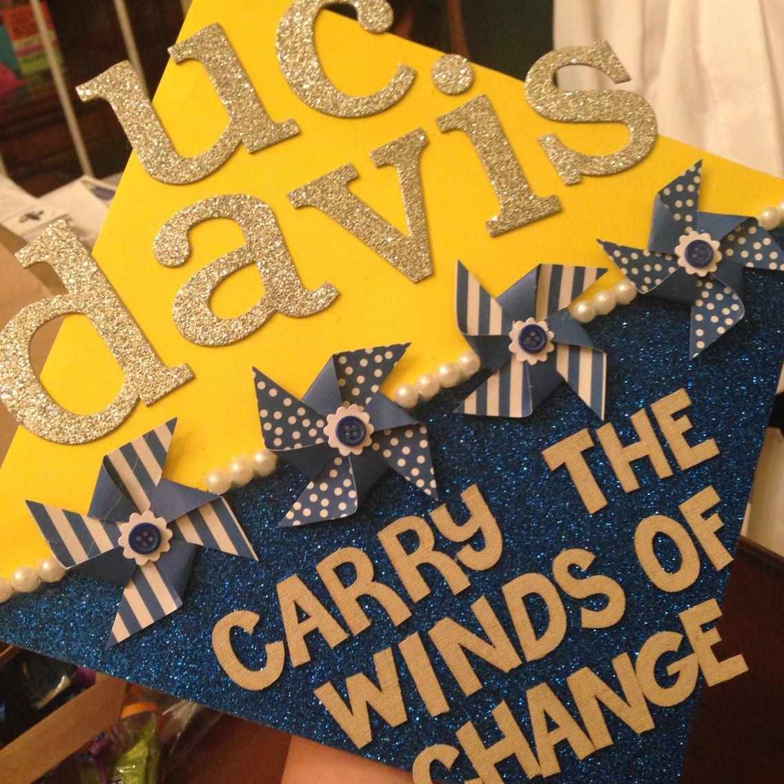 Uc Davis Graduation 2020.Graduation Cap Uc Davis Carry The Winds Of Change Cap