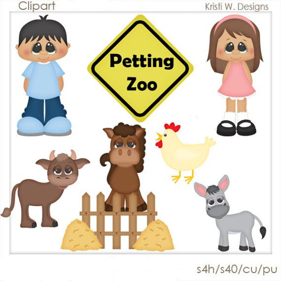 Digital Scrapbooking Clipart Petting Zoo By Boxerscraps On Etsy
