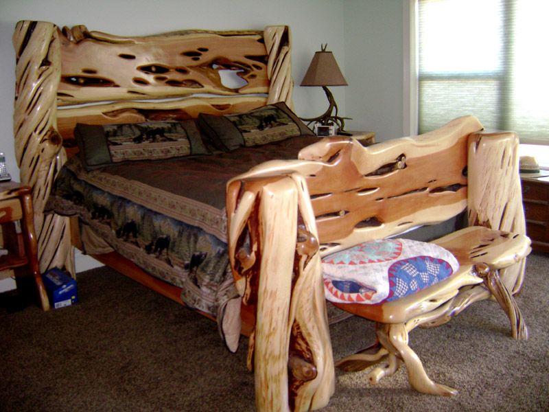 Juniper Bed | Beds | Pinterest | Cama de árbol, Camas y Madera rústica