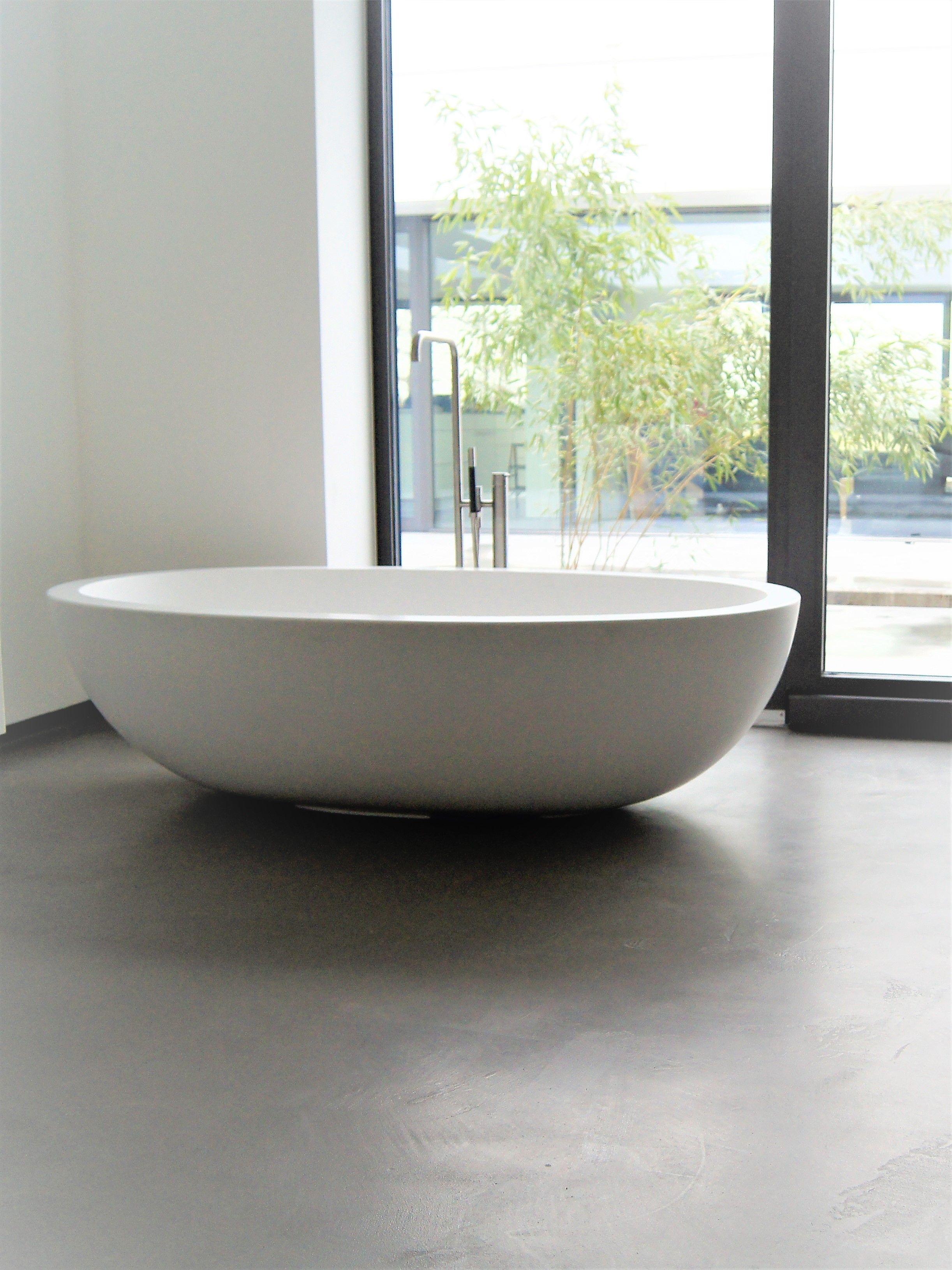 Bathroom Bad Ohne Fliesen Boden Und Wande Modern Fugenlos Zementar