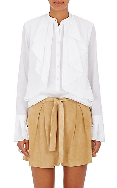 We Adore: The Cotton Voile Ruffled-Front Blouse from R/R Studio by Robert Rodriguez at Barneys New York
