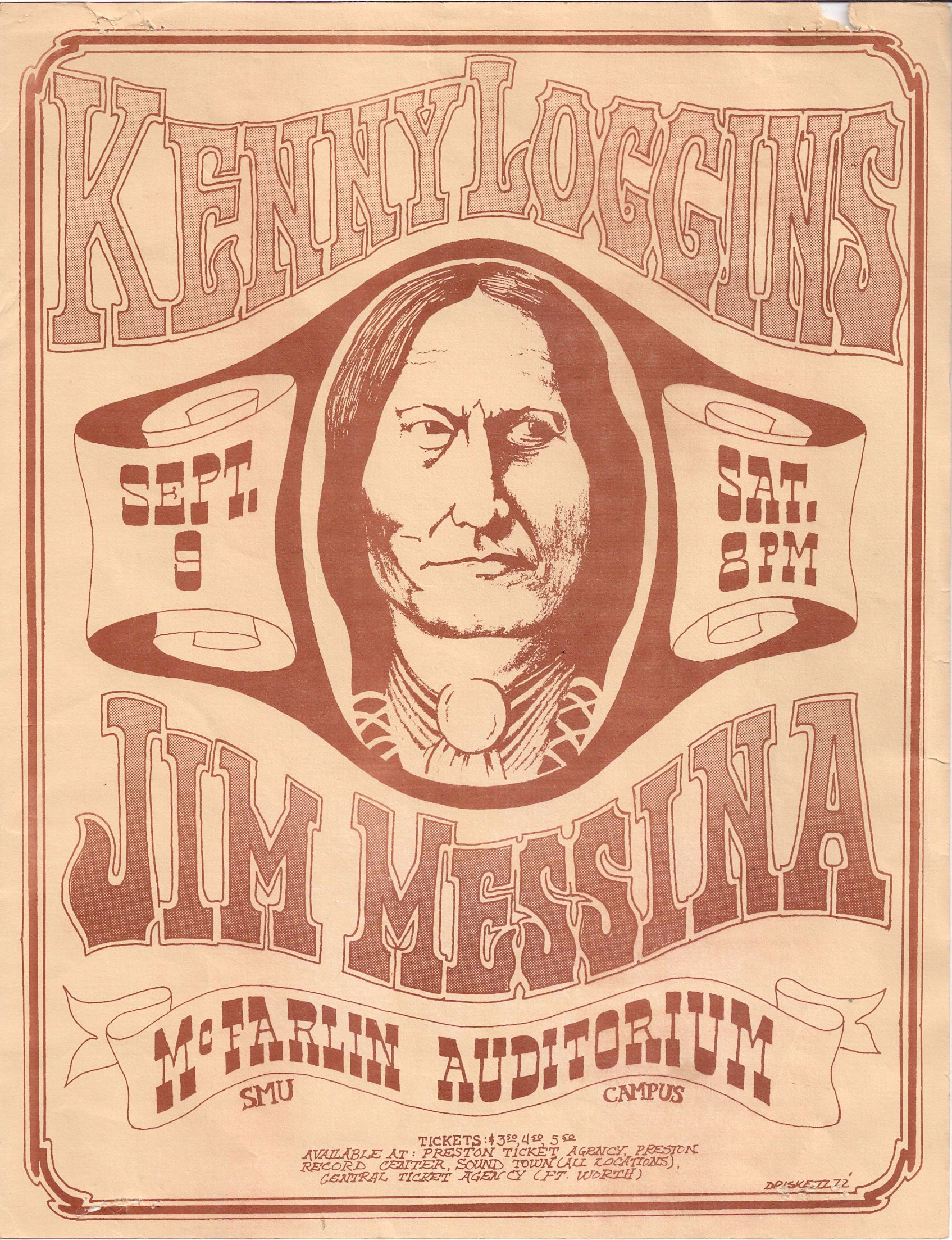 Loggins & Messina Handbill Psychedelic rock, Cool album