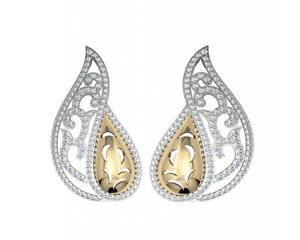 Two Tone Modern Diamond Pendant Earring Set At Jewelslane Http Contemporary Jlp24 Diamonds