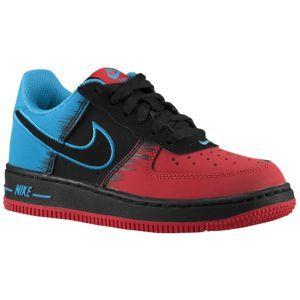 Nike Air Force 1 Low - Boys' Preschool - Light Crimson/Vivid Blue/