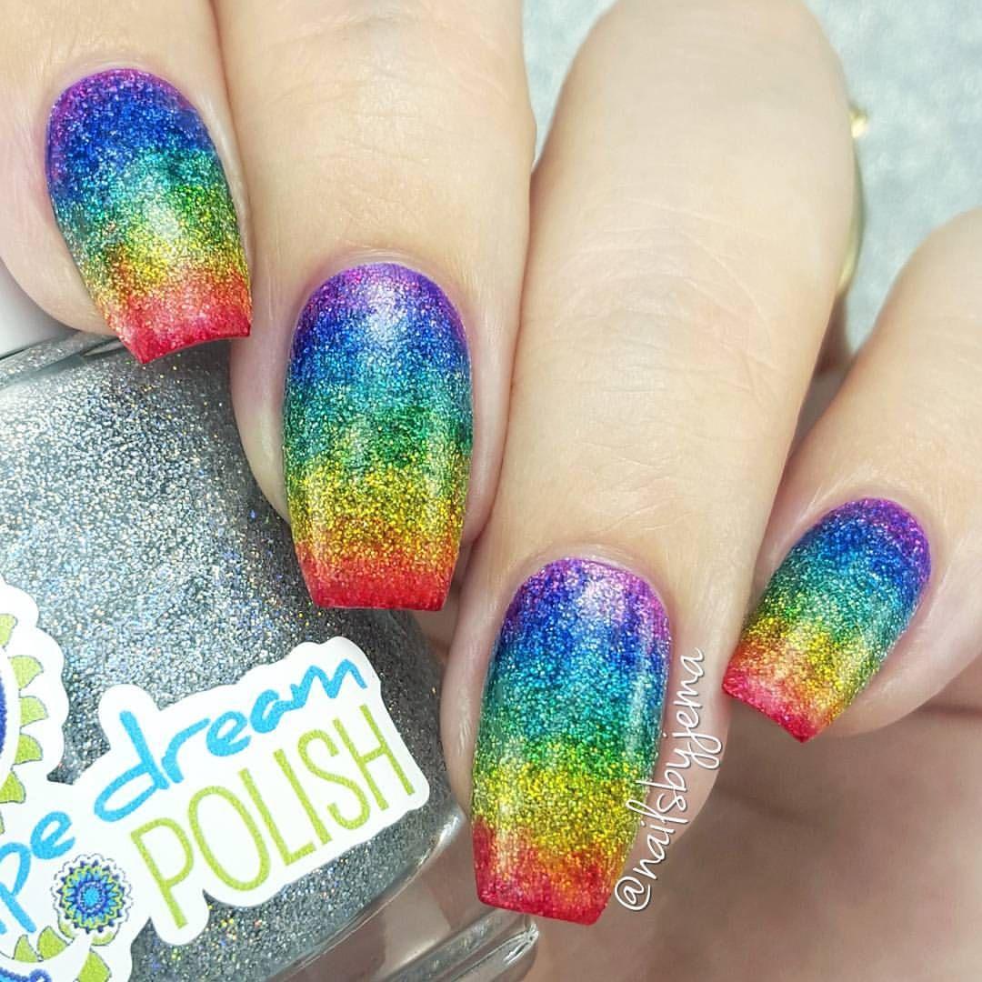 "A Nailie Named Jema ♡♡ on Instagram: ""My Sharpie Glitter Rainbow Nails! I used…"