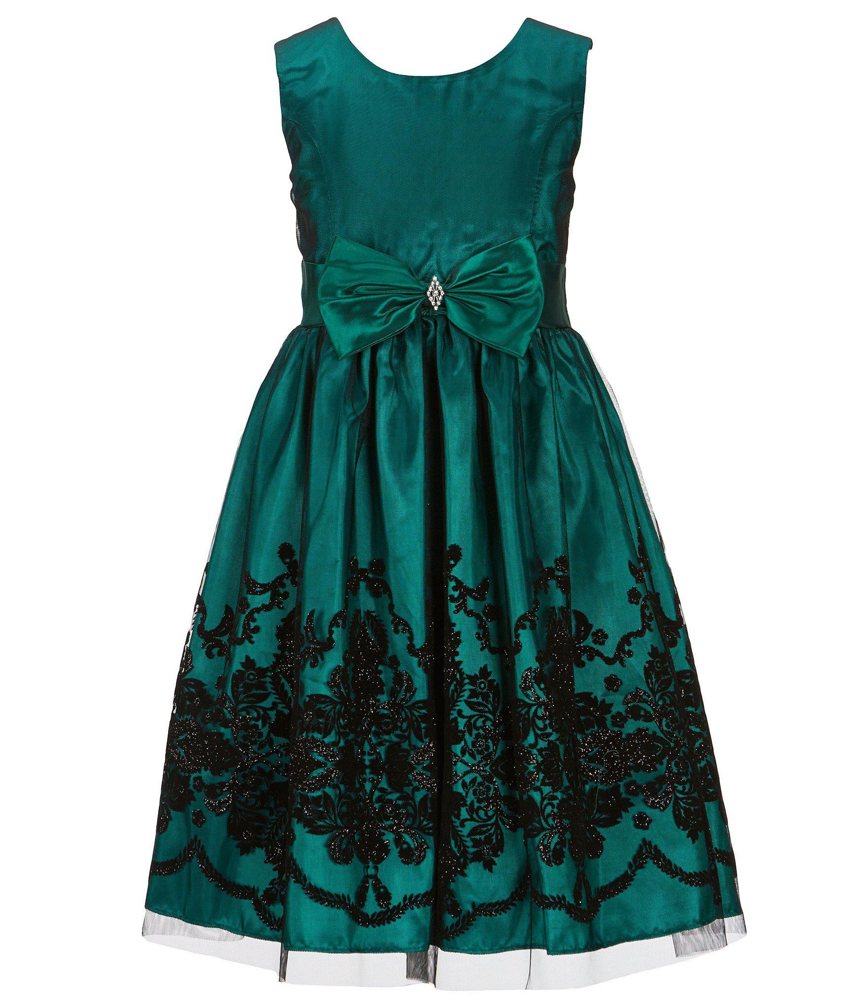 0abdd85ee1 Shop for Jayne Copeland Little Girls 2T-6X Flocked Bow Dress at ...
