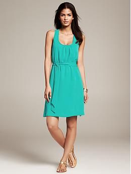 Belted Twist Strap Dress Banana Republic