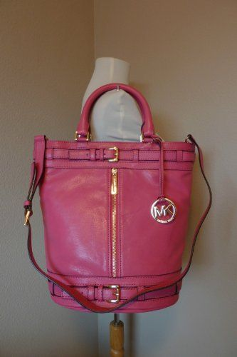 42b659150946 MICHAEL Michael Kors Kingsbury Medium Tote Genuine Leather Zinnia Pink.  Find this Pin and more on Brandname Handbags by Top ...