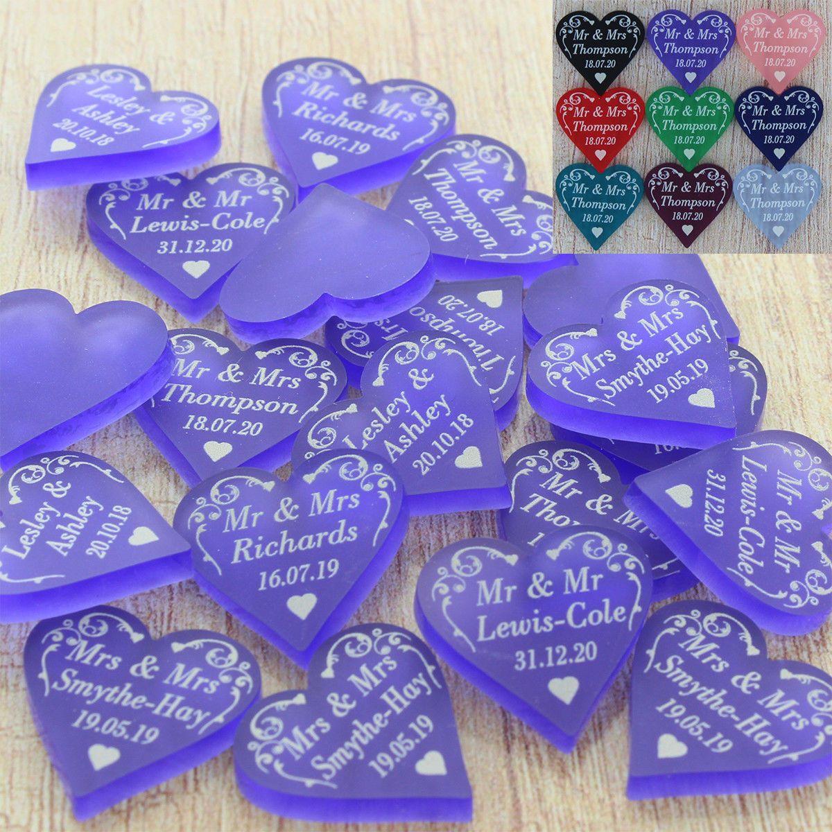 RED GOLD SILVER PURPLE LOVE HEARTS Wedding Confetti Table SCATTER Decoration