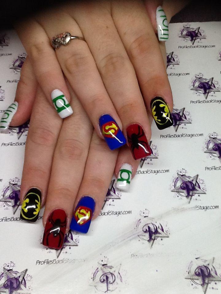 Profiles Nailz Downtown Fort Myers Fl Acrylic Nails Superhero Colorful