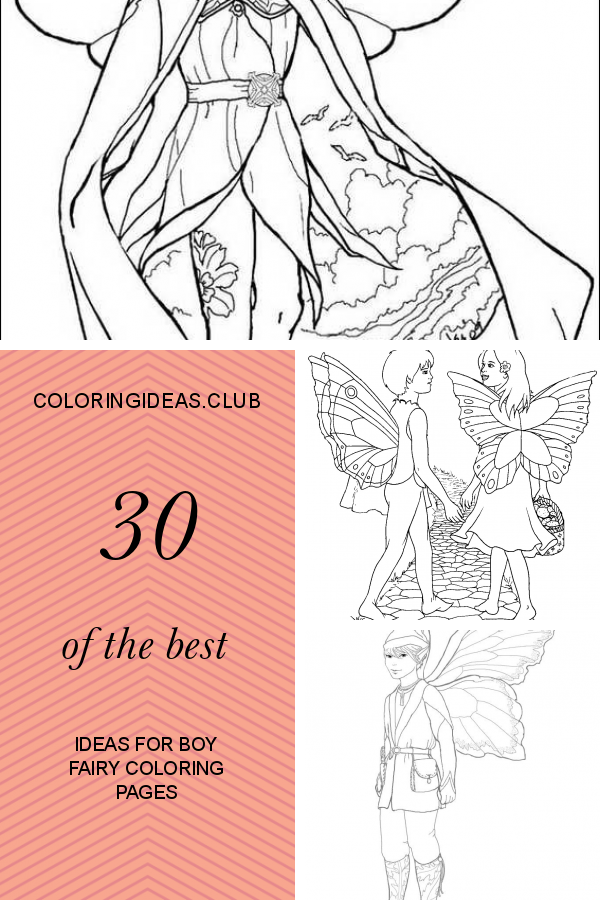 47+ Boy fairy coloring pages for kids inspirations