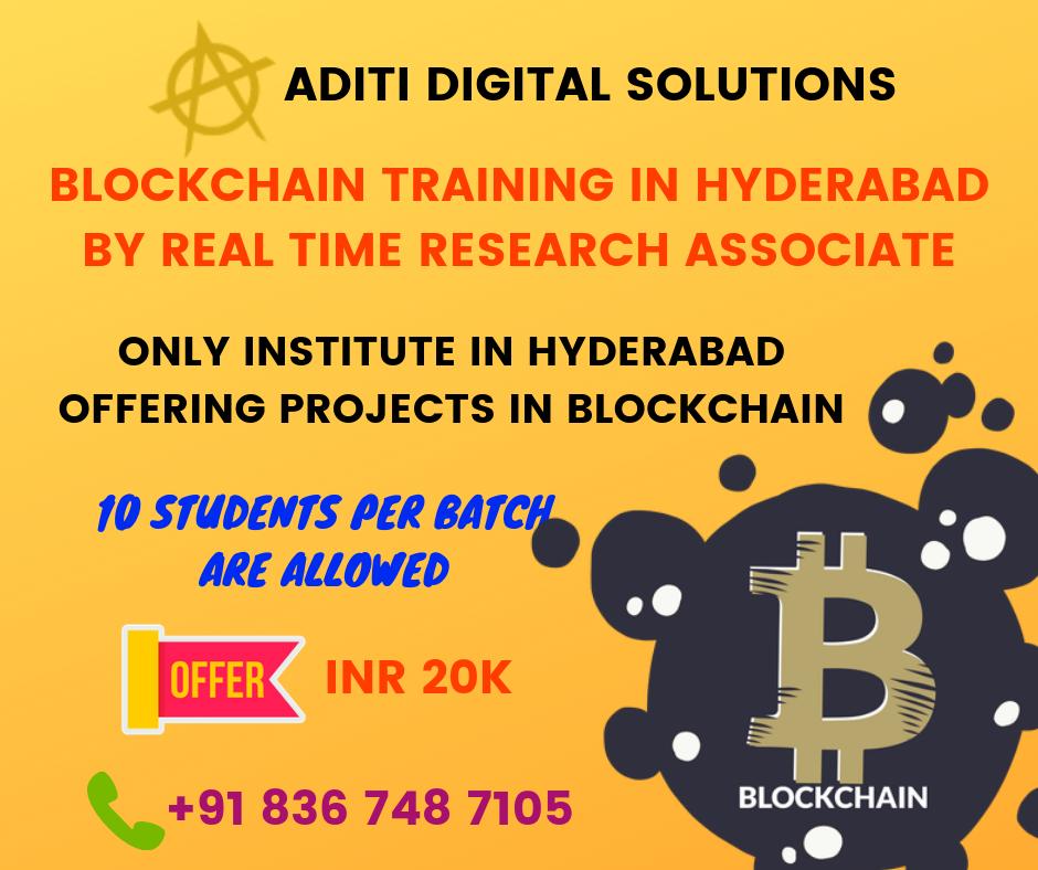 Best Blockchain Course Training Institute In Hyderabad