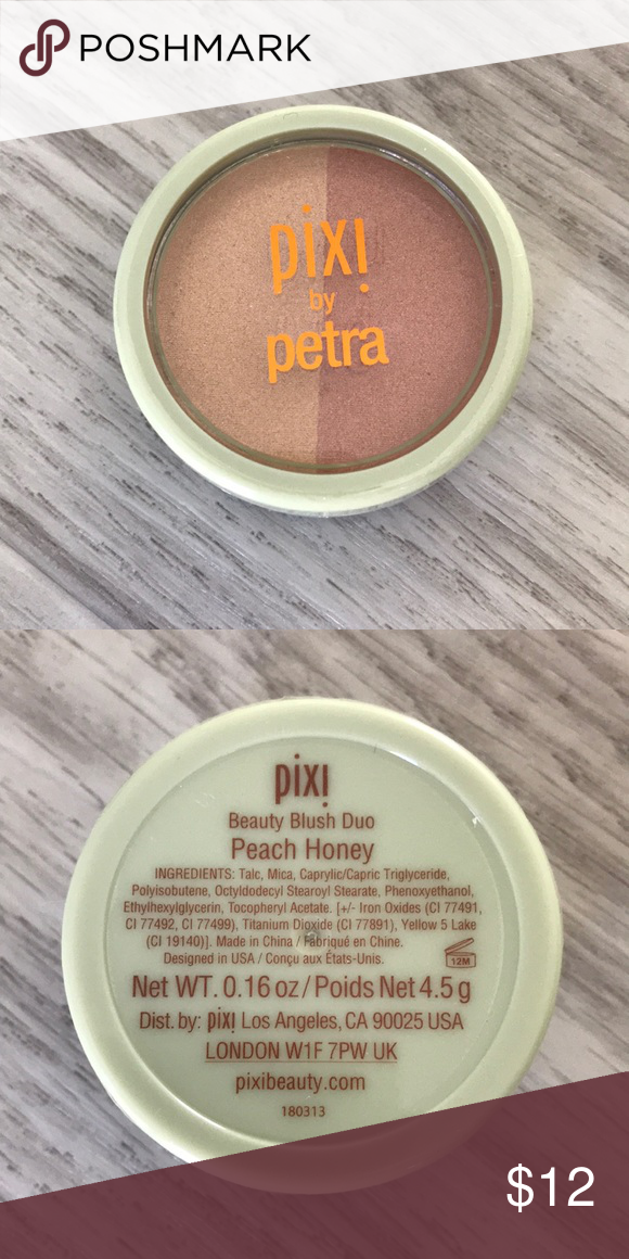 Pixi Blush Duo Sealed Brand New Sealed Product Pixie By Petra Beauty Blush Duo In Peach Honey Pixi Makeup Blush Blush Pixie Makeup Blush Makeup