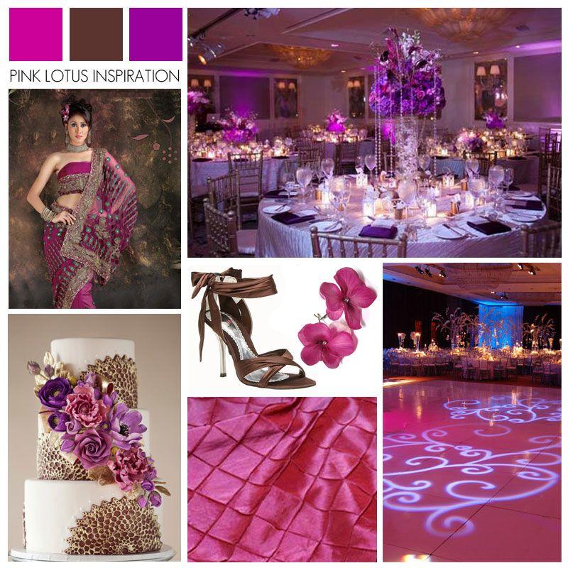 COLOR BOARD: MAGENTA, BROWN, AND PURPLE | Weddings, Wedding and ...