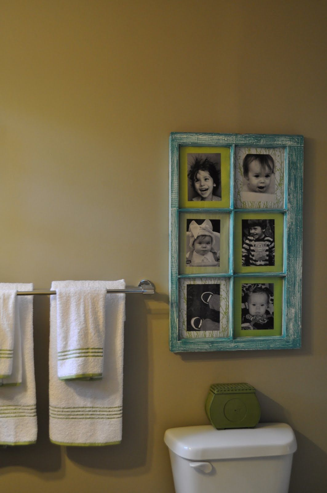 Window Pane Picture Frame....Do for a small bathroom with no window ...