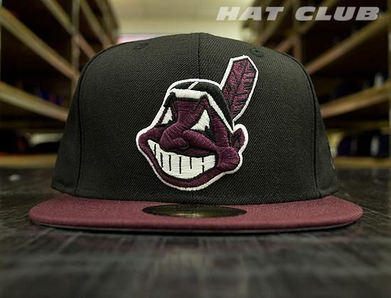 ba3cd8cfa04 New Fitteds   HAT CLUB  Custom Cleveland Indians 59Fifty Cap By NEW ERA x  MLB